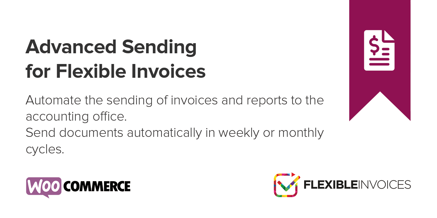 Advanced Sending is a Flexible Invoices WooCommerce add-on that automates document export and communication with the accounting office.